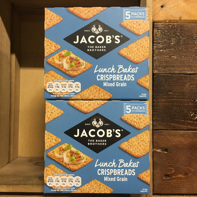 2x Jacob's Mixed Grain Lunch Bakes Crispbreads (2 Packs of 5x38g)