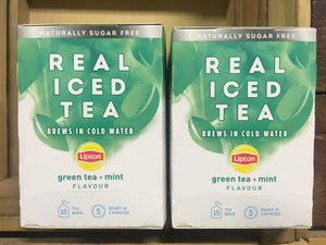 30x Lipton Real Iced Tea Green Tea, Mint Tea Bags (2 Packs of 15xBags)