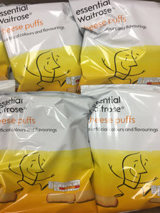 12x Packets of Waitrose Cheese Puffs (12x100g)
