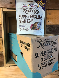 7x Kellogg Super Grains Bites Blackcurrant & China Seeds (7x120g)