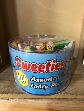 Sweeties Assorted Lolly Pops 40x20g