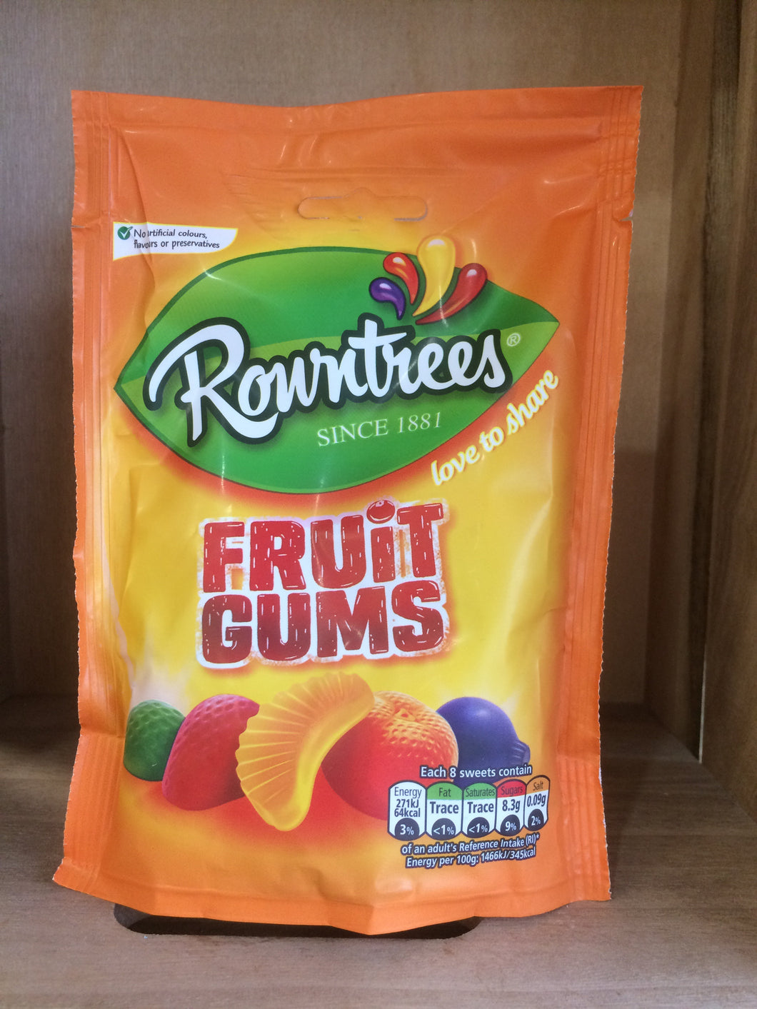 Rowntrees Fruit Gums Pouch Bag 150g