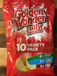 Golden Wonder 10 Pack Variety Crisps (10x25g)