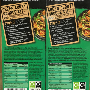 2x Sharwoods Green Curry Noodle Kits (2x125g)