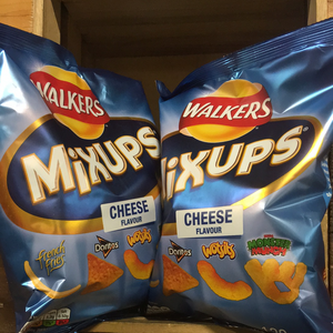 4x Walkers Mix Ups Snacks Mix Cheese (4x120g)