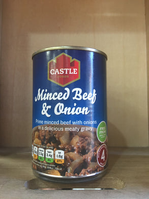 Castle Foods Minced Beef & Onion 385g