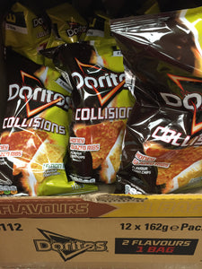 9x Doritos Collisions Honey Glazed Ribs and Lemon Blast 162g
