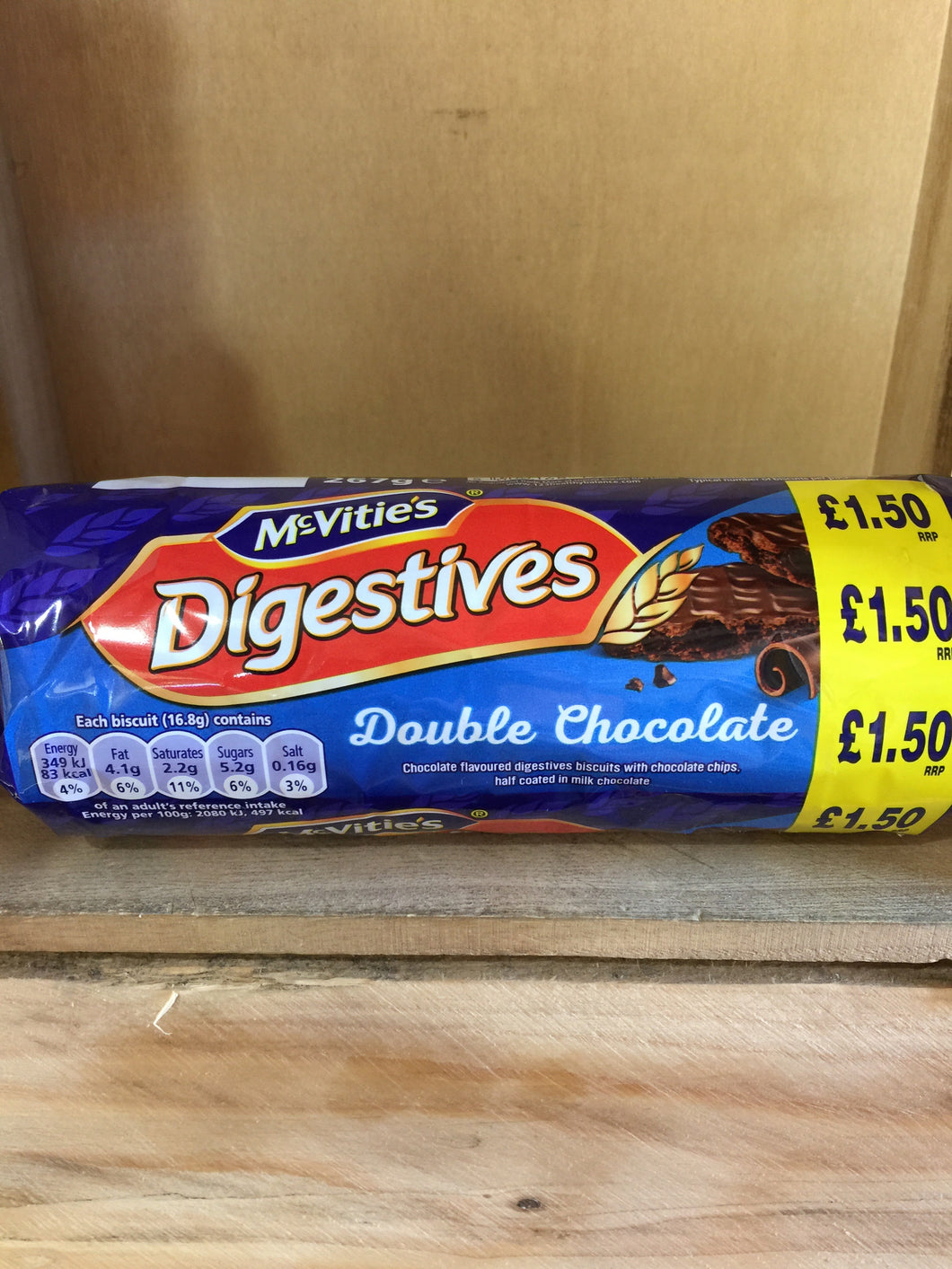 Mcvities Digestives Double Chocolate 267g