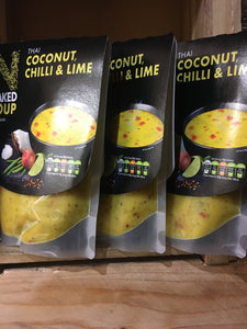 3x Naked Soup Thai Coconut, Chilli & Lime (3x300g)