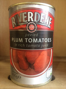Riverdene Peeled Plum Tomatoes in Tomato Juice 400g