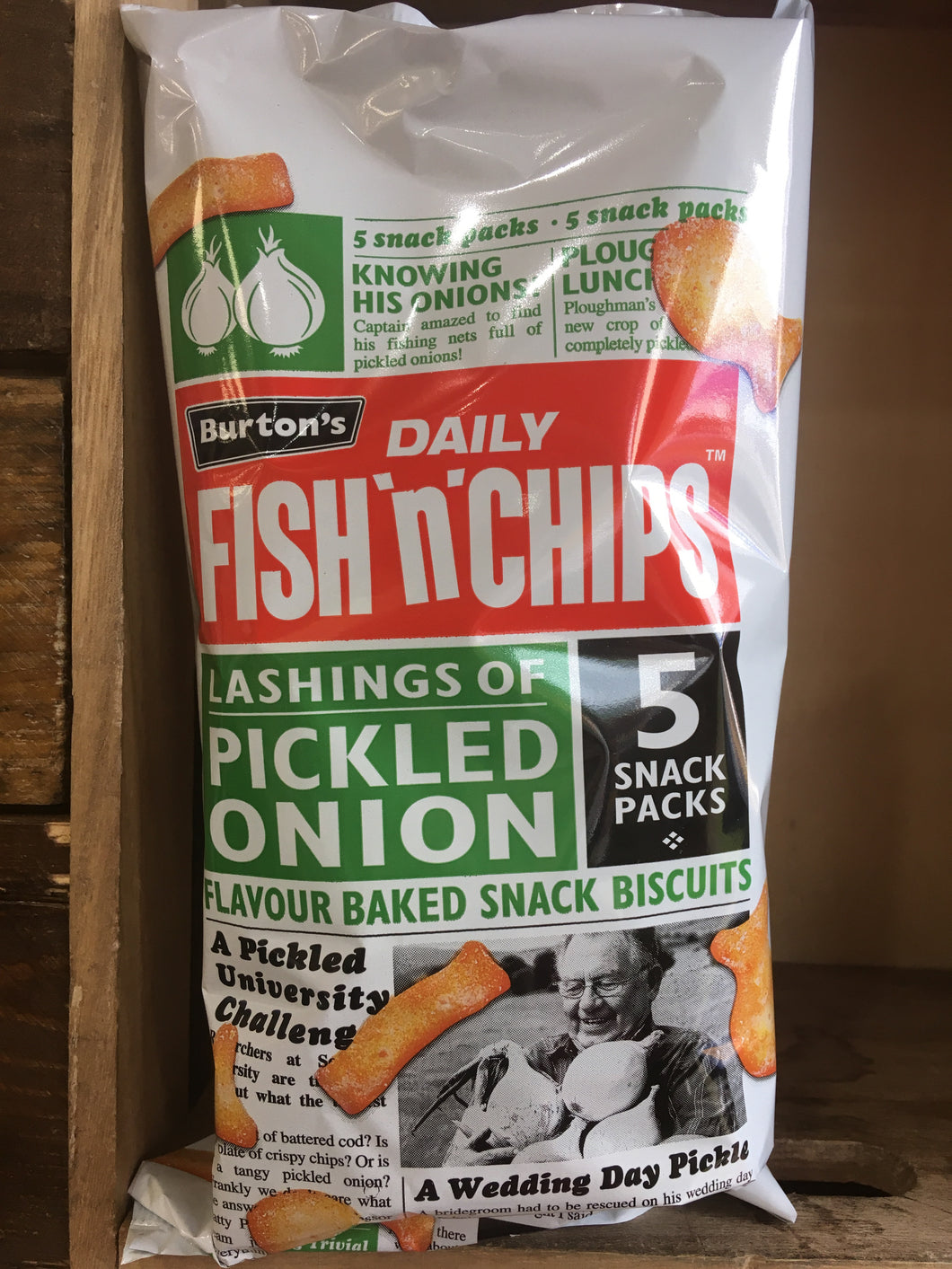 Burtons Fish & Chips Pickled Onion 25g x 5 pack