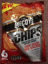 McCoy's Chip Shop Sea Salted Flavour Crisps 6x 25g Pack