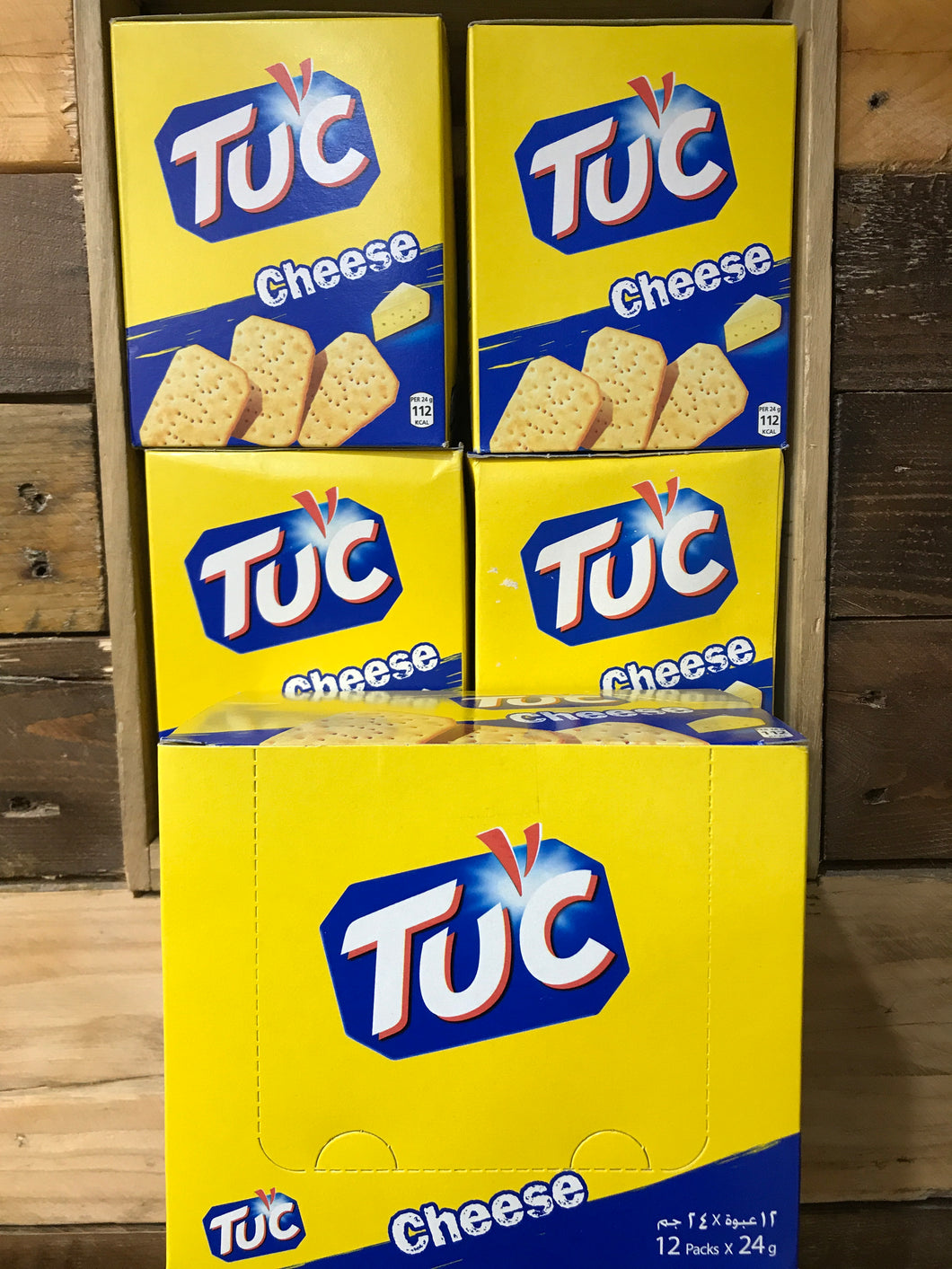 60x Packs of TUC Biscuits Cheese Flavour Snack 6x Biscuit Pack (12x24g)
