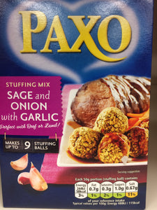 Paxo Stuffing Mix with Sage, Onion and Garlic 130g