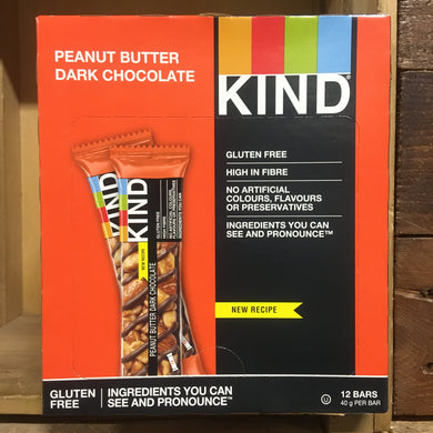 12x KIND Peanut Butter & Dark Chocolate Snack Bars (12x40g)