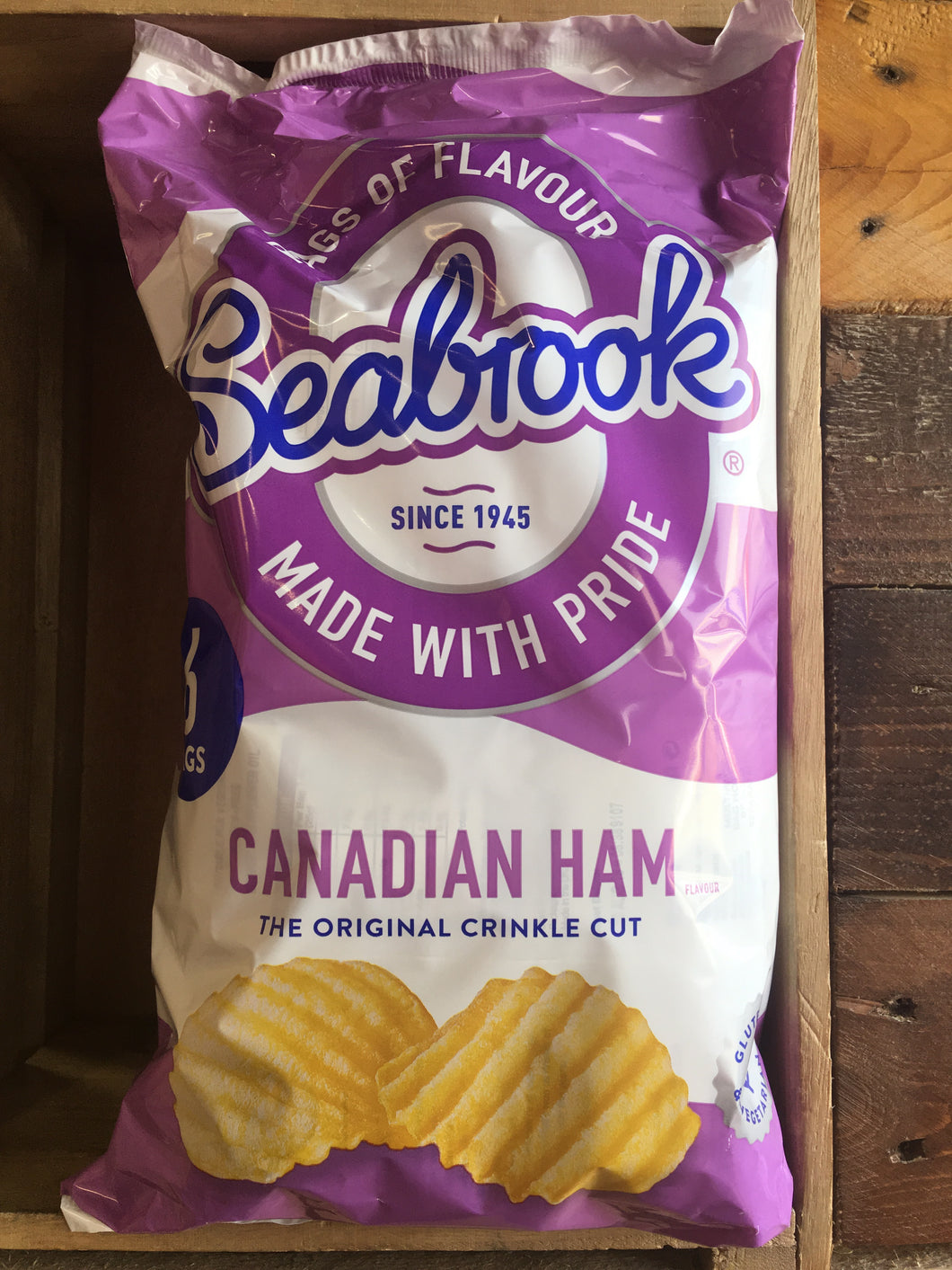 Seabrook Canadian Ham Crisps 6 Pack 150g
