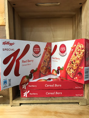 20x Kellogg's Special K Red Berry Cereal Bars 21.5g (4x 5 Bars)