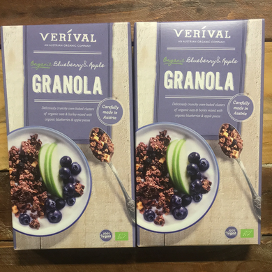2x Verival Organic Blueberry & Apple Granola Cereals (2x325g)