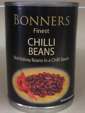 Bonners Finest Chilli Beans in a Chilli Sauce 395g