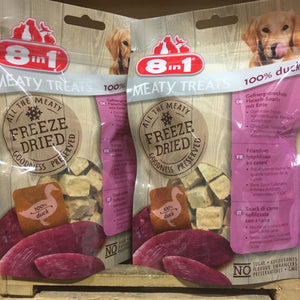 3x 8in1 Freeze Dried Meaty Treats 100% Duck Breast (3x50g)