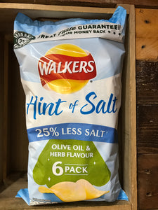 Walkers Olive Oil & Herb Flavour 6 pack