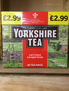 Taylors Yorkshire Tea 80 Bags 250g