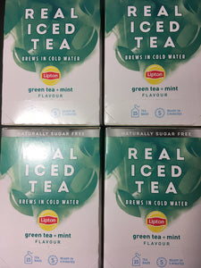 75x Lipton Real Iced Tea Green Tea, Mint Tea Bags (5 Packs of 15xBags)