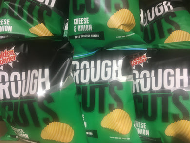 12x Golden Wonder Rough Cuts Cheese & Onion Flavour Ridged Crisps (12x47.5g)