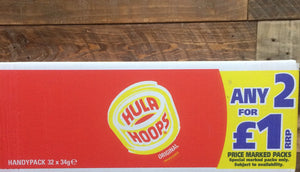 32x Hula Hoops Original Potato Rings (32x34g)