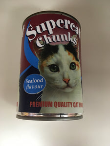 Super Chunks Cat Food Seafood Flavour 400g