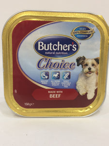 Butcher's Choice - Beef Complete Meal for Adult Dogs 150g