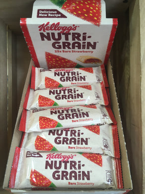 25x Kellogg's Nutri-Grain Bars Strawberry Box (25x37g)