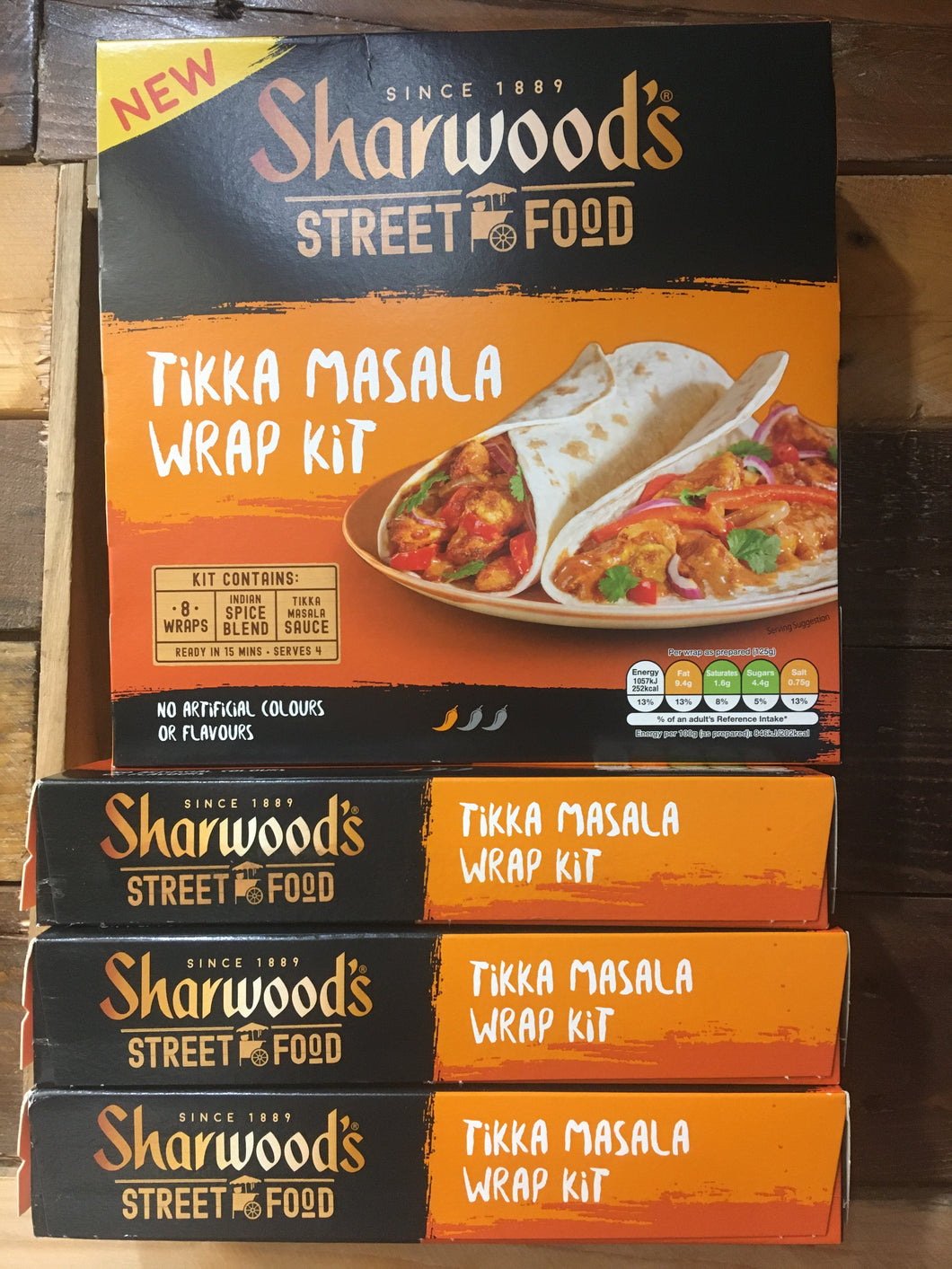 3x Sharwood's Street Food Tikka Masala Wrap Kits (3x456g)