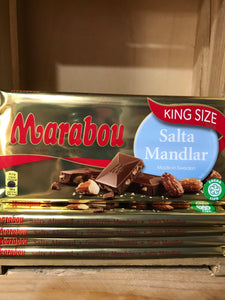 1.1Kg of Marabou King Size Salta Mandlar Swedish Milk Chocolate (5 Bars of 220g)