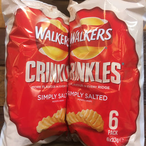 12x Walkers Crinkles Simply Salted (2 Packs of 6x23g)