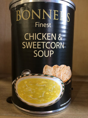Bonners Chicken, Sweetcorn & Noodle Soup 400g