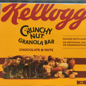20x Kellogg's Crunchy Nut Granola Chocolate & Nut Bars 32g Bars (5 Packs of 4x32g)
