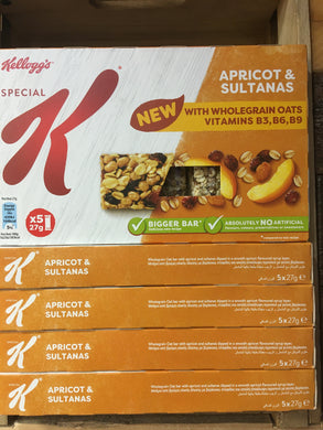 25x Special K Apricot & Sultana Bars (5 Packs of 5x27g)