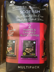 Deluxe Scottish Selection Assorted Crisps 6 Pack (6x25g)
