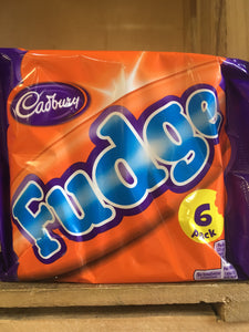 Cadbury Fudge Chocolate Bars 6x Pack (6x25.5g)