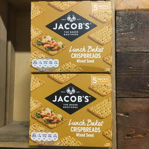2x Jacob's Mixed Seed Lunch Bakes Crispbreads (2 Packs of 5x38g)
