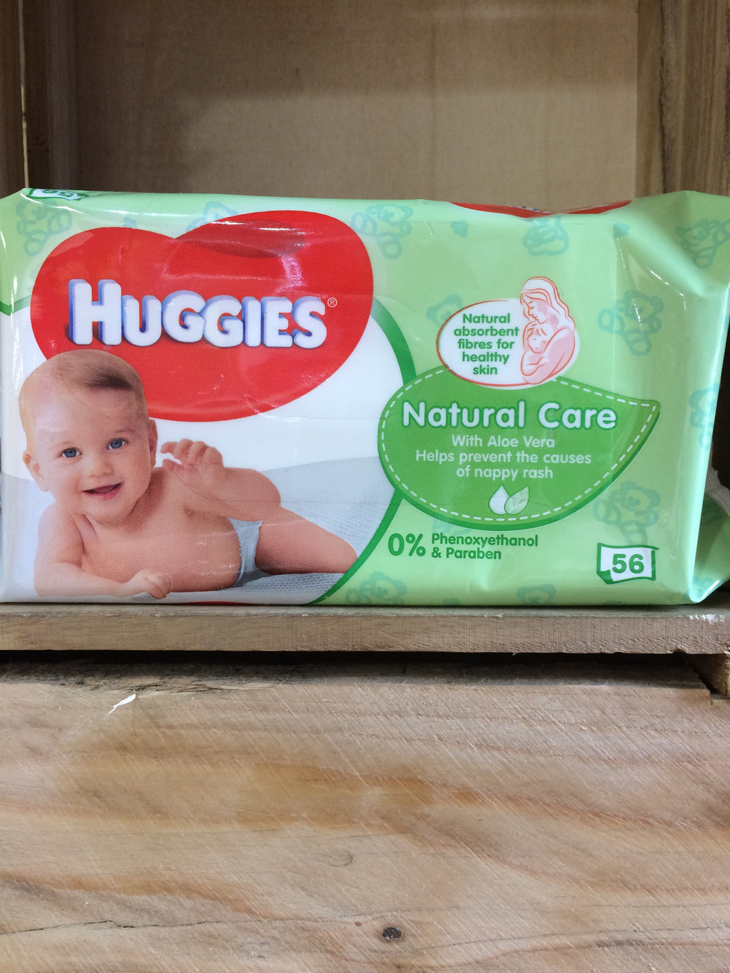 Huggies Baby Wipes Natural Care with Aloe Vera 56's