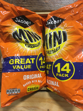 28x Mini Cheddars Original Cheese Snack (2 Packs of 14)