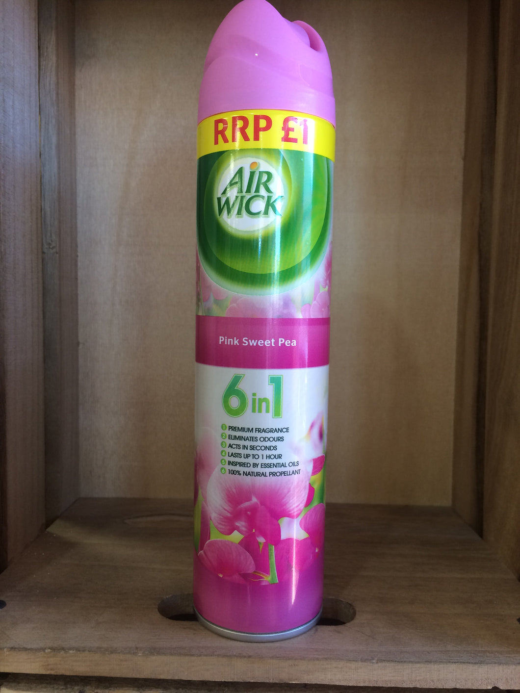 Airwick Pink Sweet Pea 6 in 1 Air Freshner 240ml