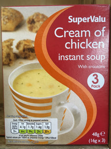 SuperValu Cream Of Chicken Instant Soup 3 Pack 48g