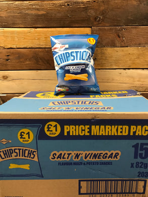 15x Smiths ChipSticks Salt'n'Vinegar (15x82g)