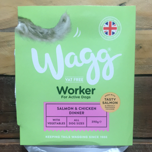 4x Wagg Working Wet Dog Food Salmon & Chicken (4x390g)