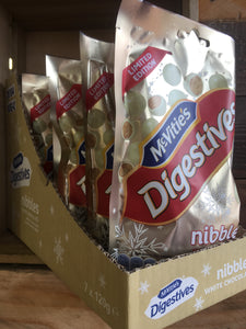 7x Mcvities Digiestive White Chocolate Nibbles Box (7x120g)