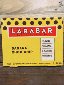 9x LARABAR Banana Choc Chip Fruit & Nut Bars (3 Packs of 3 x 45g)