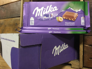 22x Milka Hazelnut Chocolate Bars (Box of 22x100g Bars)